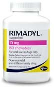New Pfizer Rimadyl Rx Chewables 75 Mg X 180 Tabs For Inflammation Associated With Osteoarthritis Picture