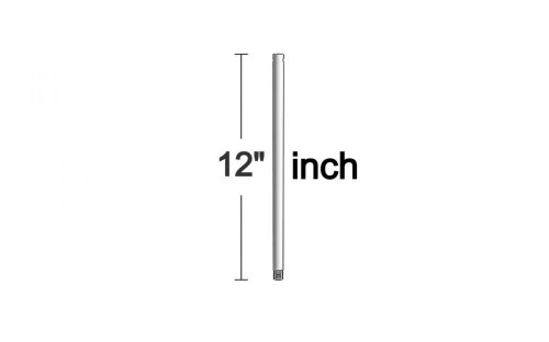 Monte Carlo DR12BS 12-Inch Downrod, Brushed Steel