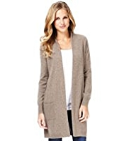 M&S Collection Pure Cashmere Front Pockets Longline Cardigan