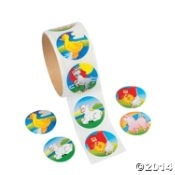 OTC - 100 FARM ANIMALS/BARNYARD Stickers/Sealed Roll/Classroom Rewards