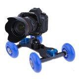Neewer® Tabletop Mobile Rolling Slider Dolly Car Skater Video Track Rail for Speedlite DSLR Camera Camcorder Rig (Blue)