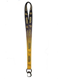 Pittsburgh Pirates Ombre Lanyard with Bottle Opener & Key Clip