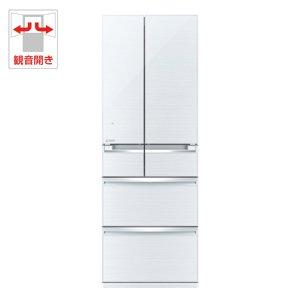 三菱 517L 6ドア冷蔵庫(クリスタルホワイト)MITSUBISHI 置けるスマート大容量 切れちゃう瞬冷凍 MR-WX53Z-W