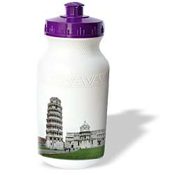 Vacation Spots - Tower Of Pisa Italy - Water Bottles