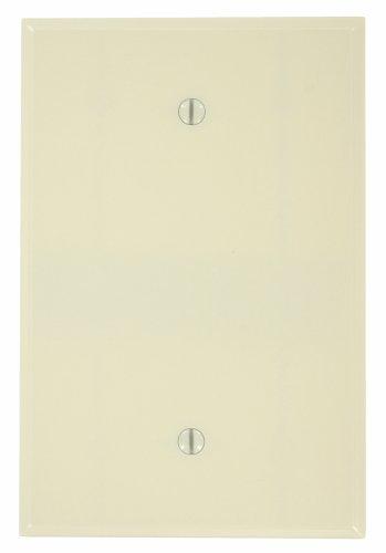 Leviton 86114 1-Gang No Device Blank Wallplate, Oversized, Thermoset, Box Mount, Ivory