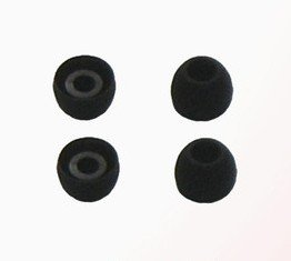 4X Black Large Size Earbud Ear Bud Tips Cushions For Logitech Ultimate Ears Noise-Isolating Earphones Triplefi 10 10Vi,Metrofi 100 150 170 200 200V 220 220Vi,Ltimate Ears Superfi 3 5,Ultimate Ears Superfi 4 4Vi,200 200Vi 200Vm 350 350Vi,500 500Vi 500Vm 60