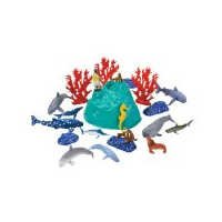 Rhode Island Novelty Sealife Set with Carrying Bag, 23-Piece - 1