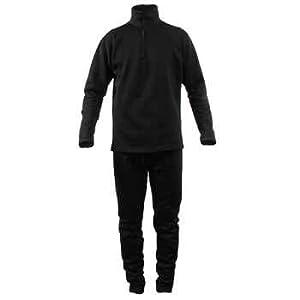 Terramar Men's Geo Fleece 1/2 Zip,Black,X-Large