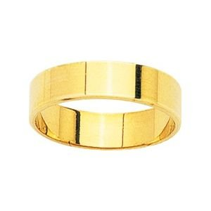 So Chic Jewels - 9k Yellow Gold 5 mm Flat Classic Wedding Band Ring