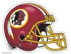 "NFL Washington Redskins 4.5"" x 6"" Team Helmet Ultra Decal Cling"