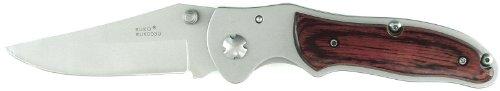 Ruko 3-1/4-Inch Blade Folding Knife With Plain Edge Pakkawood Handle (5.10-Oz.)
