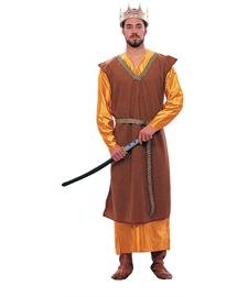Medieval King Tunic (Brown) Adult Costume Size Standard