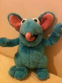 Tutter the mouse from Bear in the Big Blue House, soft plush toy