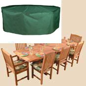 Bosmere C535 8-Seat Rectangular Patio Set Cover 116-Inch Long x 80-Inch Wide x 36-Inch High
