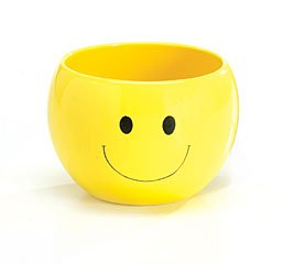 Adorable Smiley Face/Happy Face Planter/Candy