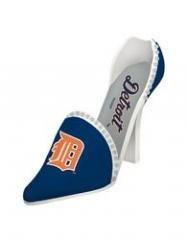 Detroit Tigers Decorative Wine Bottle Holder - Shoe MLB Sports Collectible