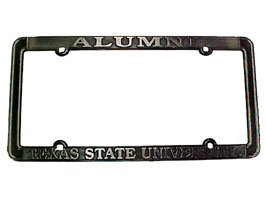 "Texas State Bobcats License Plate Frame/""alumni""/Thin Rim (THIN)"