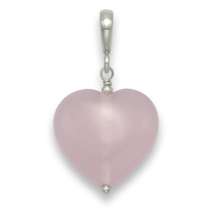 Sterling Silver Rose Quartz & Silver Beads heart Pendant 18mm x 16mm 8289RQ. Shipped in Good quality Silver Gift Box by 1st class mail.