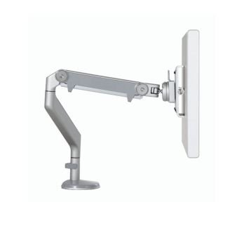 Humanscale M2 Monitor Arm: Clamp Mount - Silver/Gray Trim