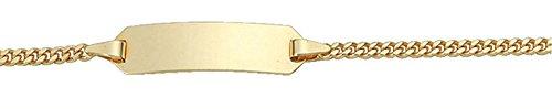 Damen Schmuck Gold Identitätsarmband Flachpanzer / Panzerkette aus 585 Gelb Gold ( 14 cm ) ( 1,8 mm ) jetzt kaufen