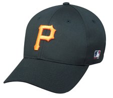Mlb Youth Pittsburgh Pirates Home All Black Hat Cap Adjustable Velcro Twill