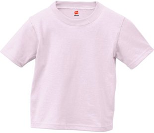 Hanes 5.2 oz PLAYWEAR Infant T-Shirt Pale Pink 6M
