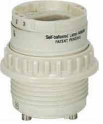 Satco Smooth Phenolic GU24 - 4-Pin CFL Socket with Ring - 801857 phenolic compounds from mongolian medicinal plants