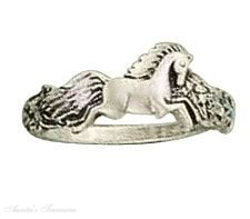 Sterling Silver Small Horse Ring Size 5