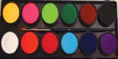Face Paint Palette by Diamond FX (Essential 12 Colors)