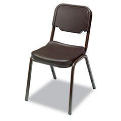 * Rough N Ready Original Stack Chair, Resin, Espresso/Brown, 4/Carton front-600494