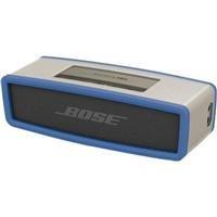 Bose Soundlink Mini Bluetooth Speaker, Upto 30 Ft Wireless Range, Silver - Bundle - With Bose Soundlink Mini Bluetooth Speaker Soft Cover, Blue