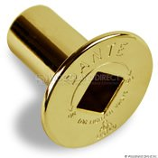 Dante Products FP.GV.BR Polished Brass Floor Plate for Dante Globe Valve