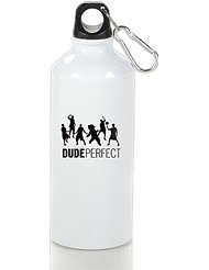 Dude Perfect Cool Aluminum Sports Water Bottle - 400/500/600ML 600ml (Personalized Ping Pong Balls compare prices)