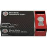 Dynarex Black Nitrile Exam Gloves, Heavy-Duty, Powder Free, Large, Box/100