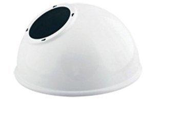 Gooseneck Angled Dome Shade - For Led Gooseneck Sign Lights - White Finish - Rab Gsadw