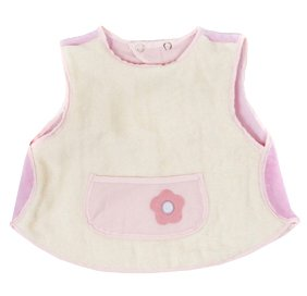 Baby Chaleco Bubble Blocker Vanilla/Pink with Flower Pocket Detail - Newborn
