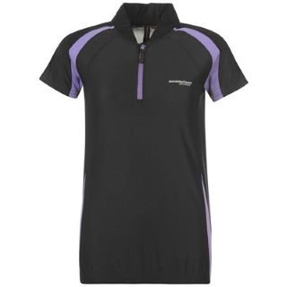 Muddyfox Short Sleeved Cycling Jersey Ladies Black/Purple 8 (XS)