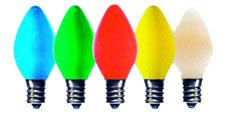Brilliant Brand Lighting Seasonal Decoration C7 Multi-Color Ceramic Bulbs 5-Watt (25 Pack) front-1011099