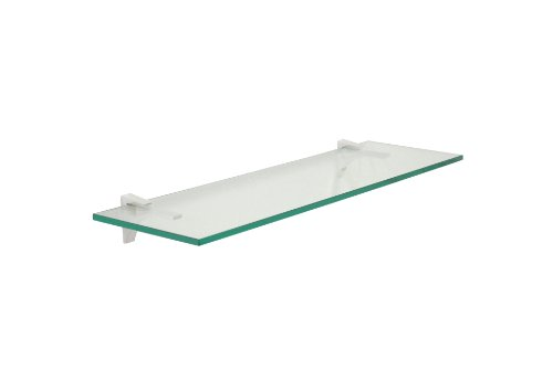 Cardinal Floating Glass Shelf (42 in. W x 10 in. D)