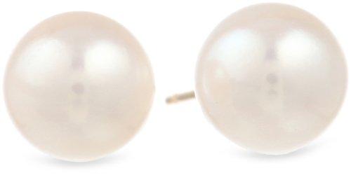 14k Yellow Gold AAA Akoya Cultured Pearl Earrings