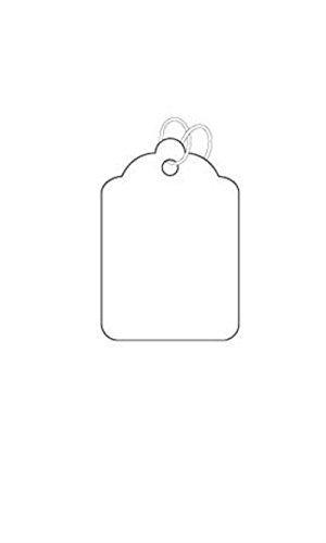 White Cotton Strung Merchandise #1 Price Tags (5/8