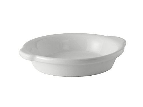 Tuxton BWN-2003 Vitrified China Round Au Gratin, 20 oz, 8-1/8