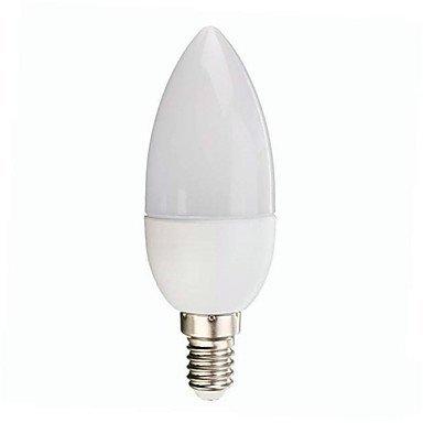 1PCS E143W 10SMD 300LM Warmweiß/Kaltweiß eine dekorative LED Kerze Leuchtmittel AC 100-240V, e14, 3.0 wattsW