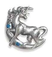 Licorne-lunaire-Pour-prendre-les-bonnes-dcisions-Fantaisie-pendentif-collier-en-argent-sterling-avec-ornements-cristal-et-or-livr-avec-une-chane-en-argent-925