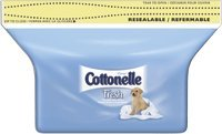 COTTONELLE FLUSHABLE MOIST WIPE REFILL, 84 WIPES/PK, 8 PK/CS, KIC72484