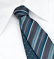 2 Pack Machine Washable Stripe & Spotted Ties