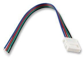 5050 Size Led Rgb Pigtail Connector With 5.75 Inch Leads With White Earbud Headphones