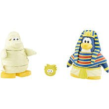 Buy Low Price Jakks Pacific Disney Club Penguin Series 2 Mix 'N Match Mini Figure Pack Pharaoh and Mummy (Includes Coin with Code!) (B001U29DT6)