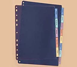 Kleer-fax Max Tabs All Plastic Insertable Set of 5 inserts Item #22905 Assorted Colors