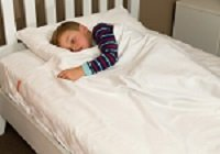 White Cotton Kids Zip Sheets to Fit a Twin Size Bed